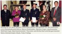 Koseler Feuerwehr ehrt langjährige Aktive
