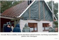 Richtfest in Kosel: Mehr Platz und Komfort im neuen Sportheim