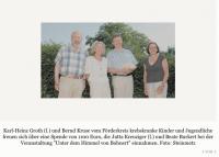 'Unter dem Himmel von Bohnert' - 1100 Euro für krebskranke Kinder