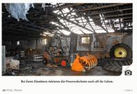 Lagerhalle in Kosel brennt ab