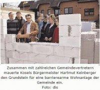 Kosel legt den Grundstein für barrierearmes Wohnen