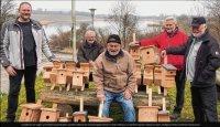 Schützen gewähren Vögeln Wohnraum