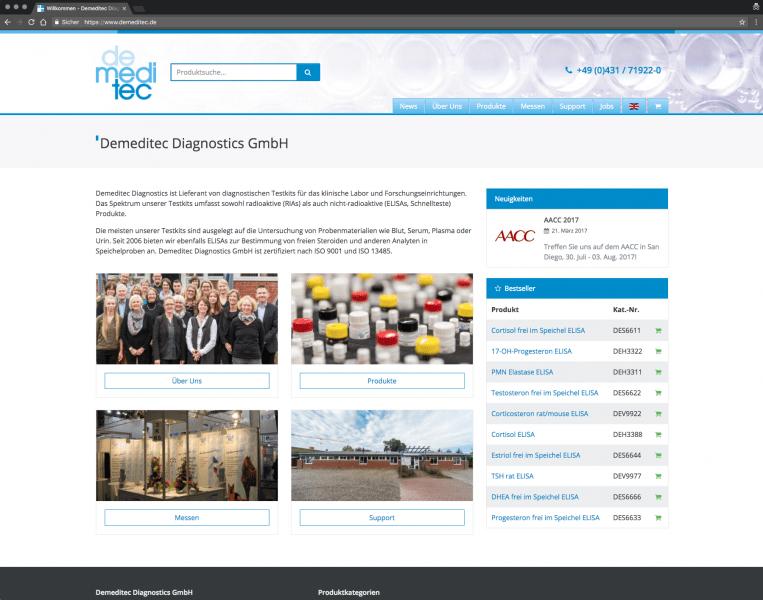 Demeditec Diagnostics GmbH - Ihr Lieferant von diagnostischen Testkits für das klinische Labor und Forschungseinrichtungen