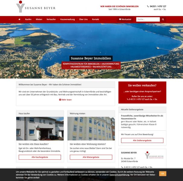 Susanne Beyer Immobilien mit neuer Website made by netinsiders